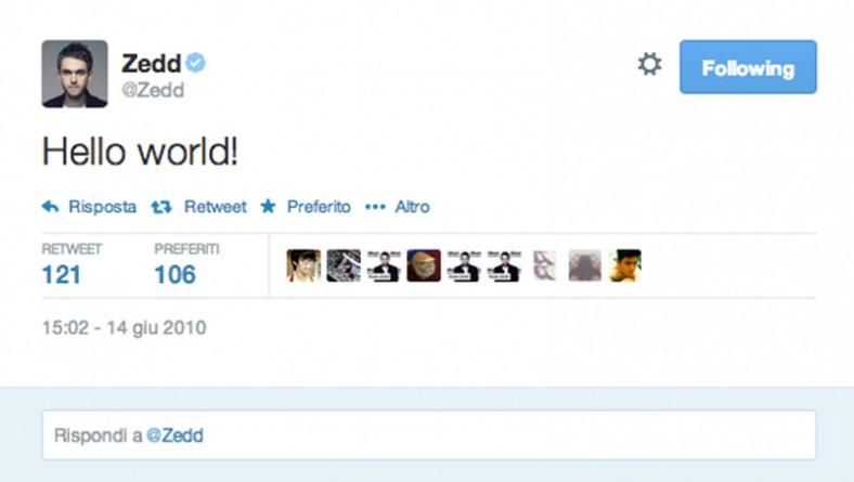 I primi tweet dei tuoi DJ preferiti