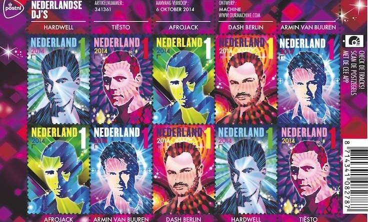 I più grandi DJ del mondo finiscono sui francobolli