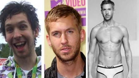 Calvin Harris: spuntano le foto di nudo dell'ex brutto anatroccolo