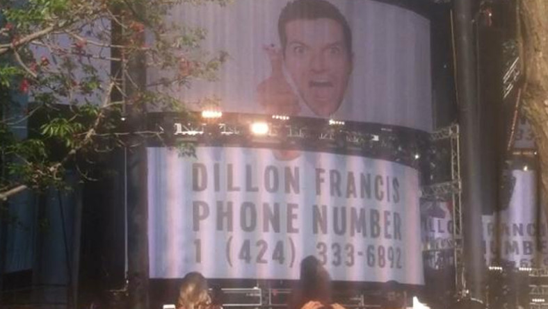 UMF, Dj Snake proietta il numero di telefono di Dillon Francis [SCHERZONE]