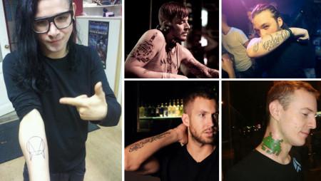 I tatuaggi dei Dj, le scritte, le frasi e i disegni più belli dell'EDM