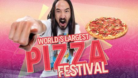 Agli italiani la pizza, agli americani la super festa (a base di pizza)