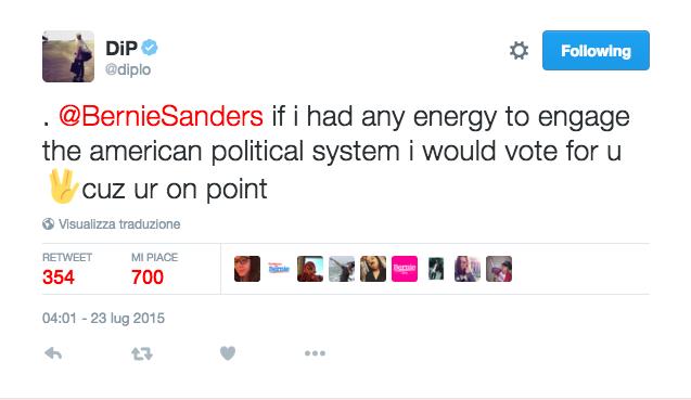 Elezioni USA 2016: Diplo nel video del candidato Bernie Senders