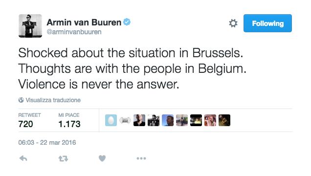 Strage di Bruxelles: tutti i messaggi di solidarietà dei DJ